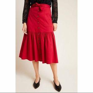 NWT Anthropologie Amadi Midi Skirt S